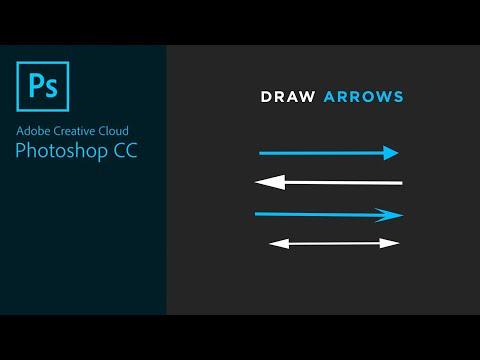 Drawing A Line, Arrow And Arrowhead In Photoshop CC