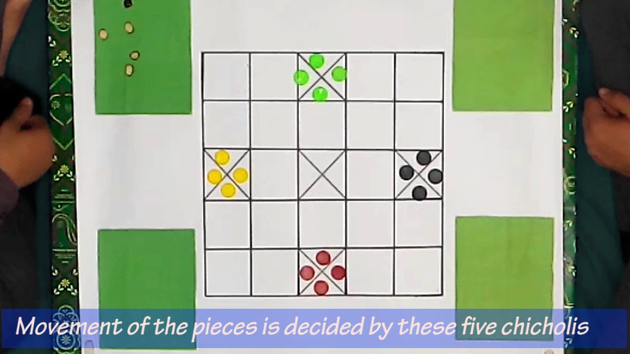 How to play pachchisi | Board games in hindi with english subtitle ...