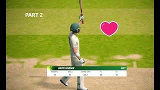 Cricket 19 - Ashes - Part 2 - David Warner (202*) - Double Century