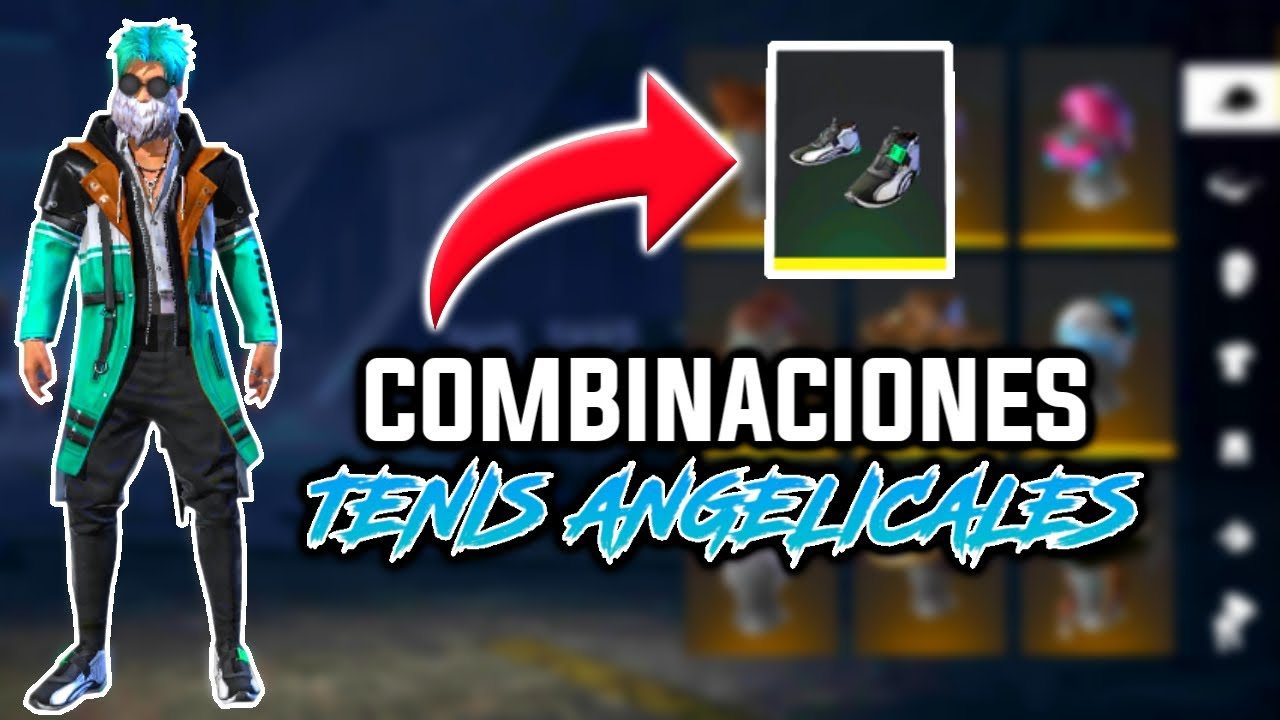 Top Mejores Combinaciones Con Tenis Angelicales Free Fire Top Pro Player Outfits Youtube