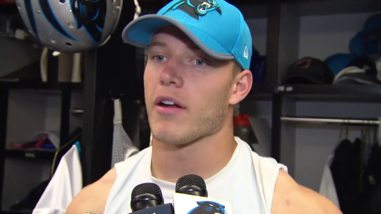 Cam Newton can thank Christian McCaffrey for improved completion percentage