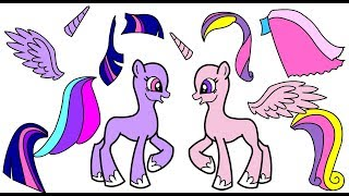 My mlp paper book of all the Alicorns getting dressed up for a royal party