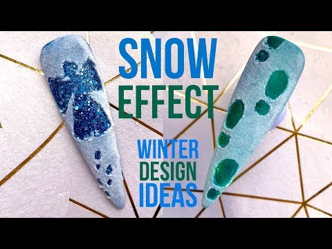 Snow Angels and Foot Prints - Gel Polish and Acrylic Powder Snow Effect