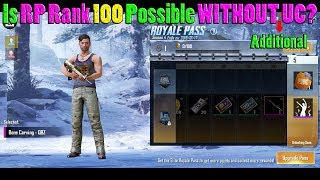 Is it POSSIBLE to Reach RP RANK 100 WITHOUT Spending ADDITIONAL UC | PUBG Mobile with DerekG