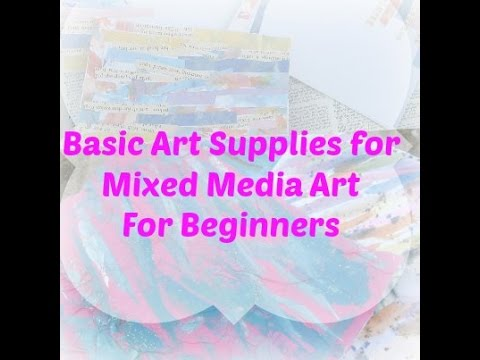 Basic art supplies for mixed media art mixed media for for Watercolor supplies for beginners