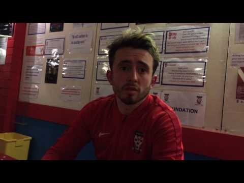 Aidan Connolly reacts to York City's 3-1 loss to Gateshead
