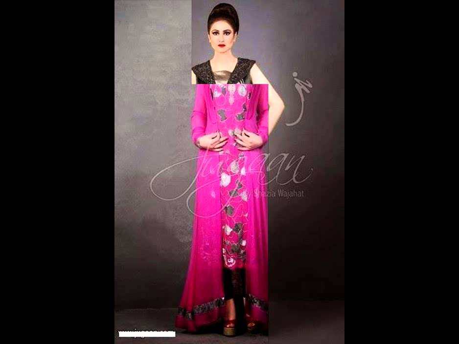 Latest Party Wear Dresses Of Beautiful Jugaan Formal Collection 2014