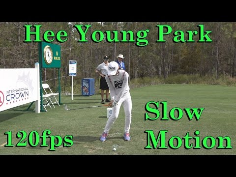 HEE YOUNG PARK 120fps SLOW MOTION FACE-ON IRON GOLF SWING 1080p HD