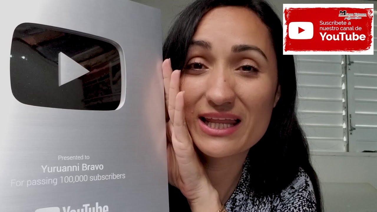 Placa de YouTube Botón de Plata 100k