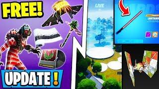 *NEW* Fortnite Update! | Star Wars *Crash* Event, All 14 Winterfest Gifts, Free Rewards!