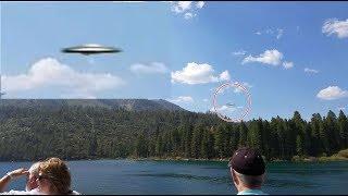 これは意外と鮮明ですよ。晴れの日にネバダ州タホ湖で目撃されたUFO動画(アメリカ)