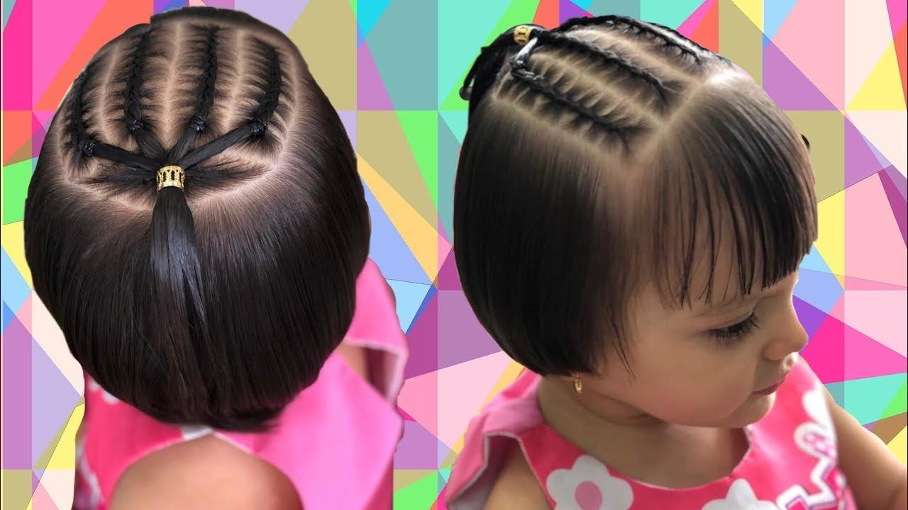 Trenzas para cabello corto niñas