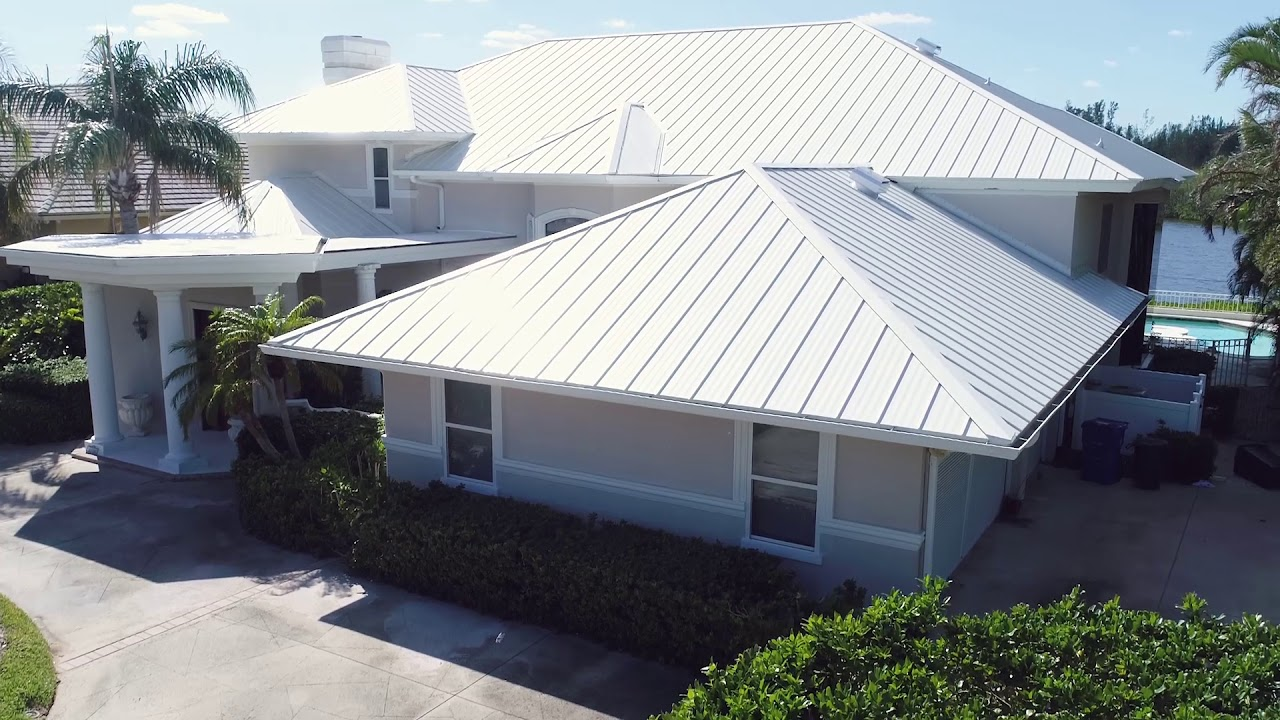 Standing Seam Metal Roof In Vero Beach Florida Youtube