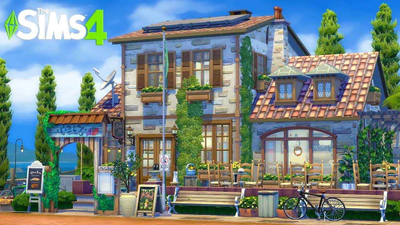 FRENCH STYLE CAFÉ ☕️ SIMS 4 / Speed Build / no CC