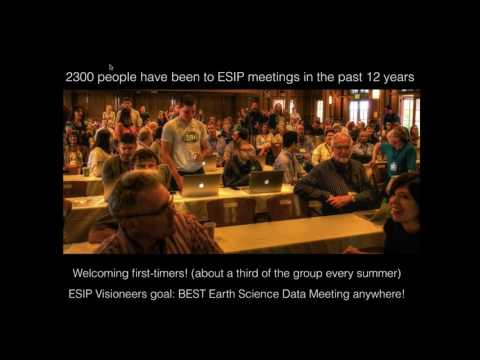 ESIP in 5 Minutes: Bruce Caron at the ESDSWG Meeting 2017