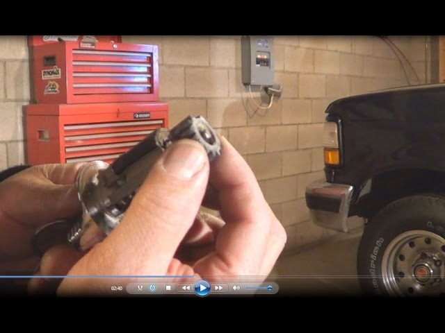 1992 1997 Ford F Series Pick Up Ignition Tumbler And Key Replacement Youtube