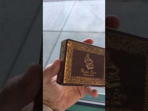 The Music Box Playing Cards! Plays Music When Opened!