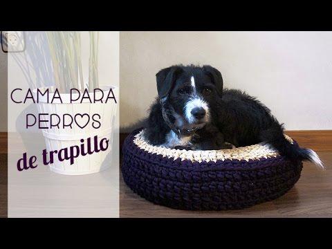 Cama para perro de trapillo paso a paso youtube for Cama para perros