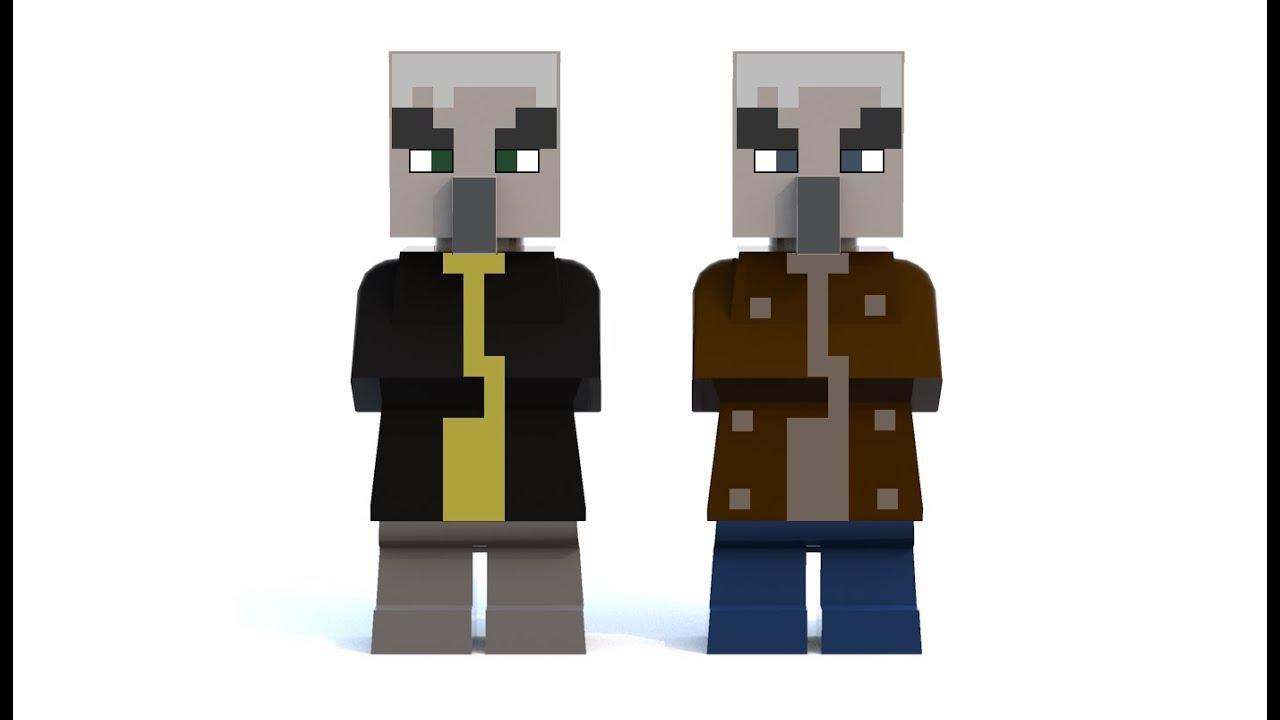 LEGO Minecraft Vindicator and Evoker MOC - YouTube