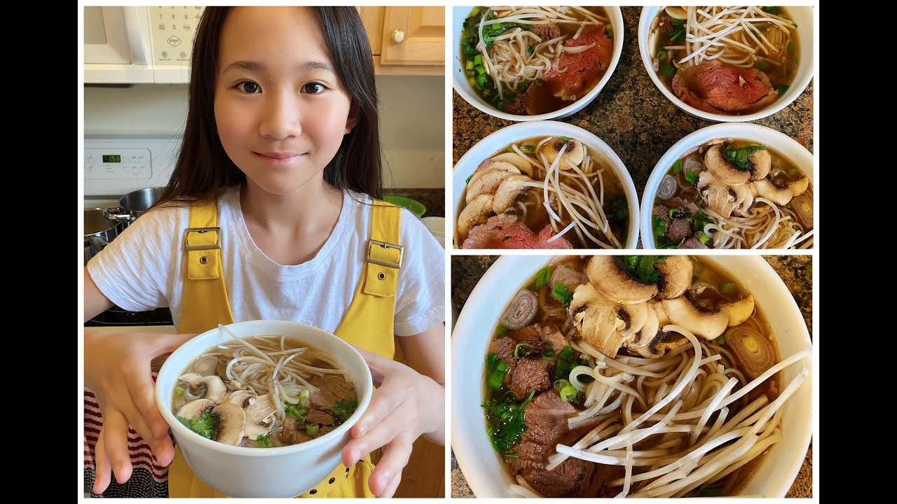 Kate Makes Vietnamese PHO Noodle Soup from Scratch! / Janet and Kate
