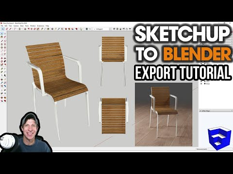 Exporting SketchUp Files TO BLENDER! Everything You Need To Know!
