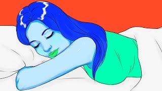 Abajo pies duerme los duelen cuando boca