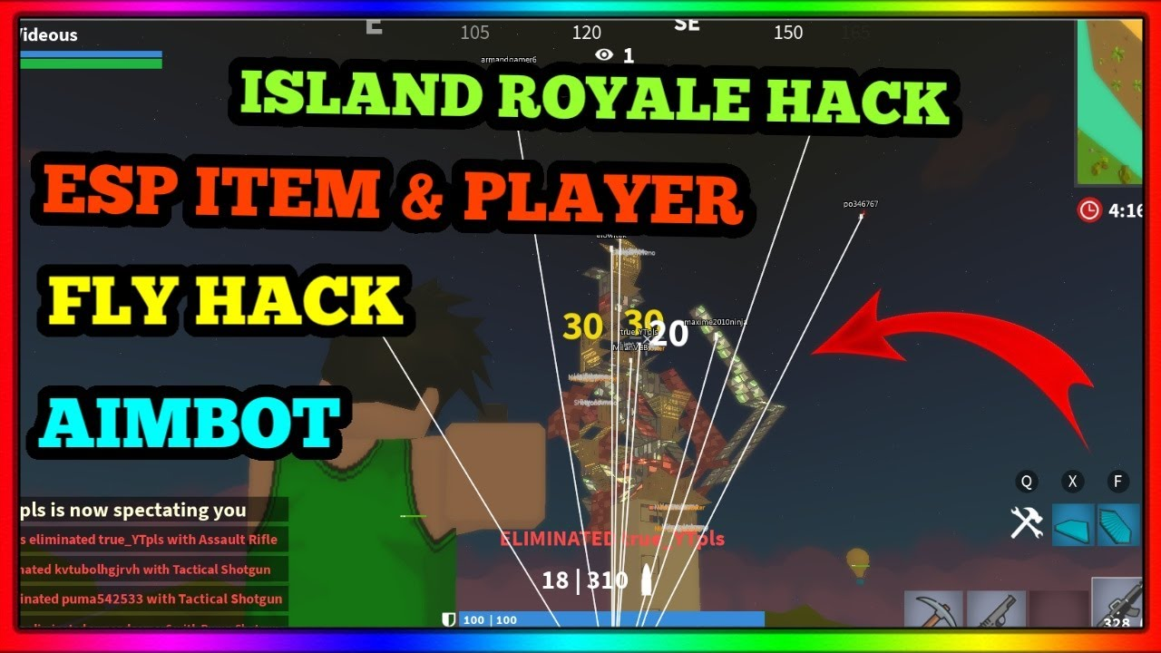 Roblox Island Royale Hack Script Pastebin Aimbot Island Royale Hack Aimbot Esp Players And Items Unlimited Jump And Speed Hack Roblox Hack 2020 Youtube