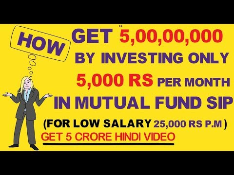 Invest Rs 5000 Per Month And Get 5 crore Rs  How to invest in Sip