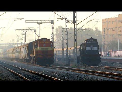 SUNRISE OVERTAKE - Tirunelveli Dadar Express overtakes Hubli Fast Passenger