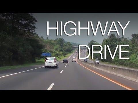 Highway Drive to Bandung