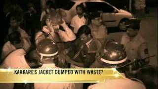 Karkare's jacket dumped with waste?