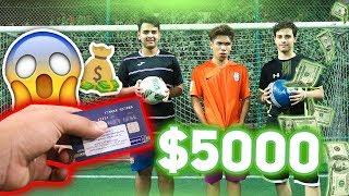 تحدي في الملعب و الي يفوز له 5000 ريال 😱🔥 !! ( مستحيل تتوقعوا مين فاز !! )