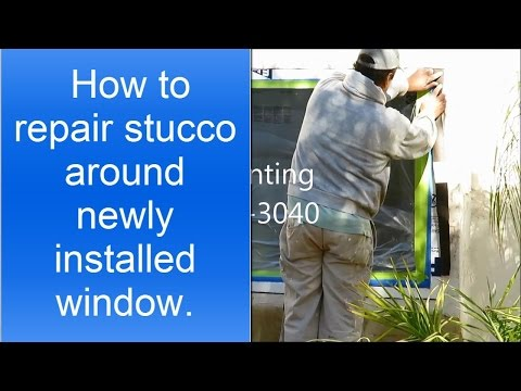 How to repair stucco around newly installed window.