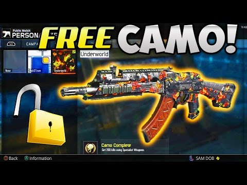 NEW FREE WEAPON CAMO UNLOCKED!! LIVE REACTION - (Call Of Duty: BLACK OPS 3)