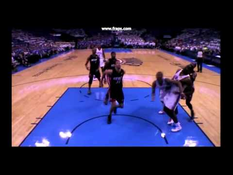 Shane Battier And Westbrook Collapse  - Game 2 - NBA FINALSf