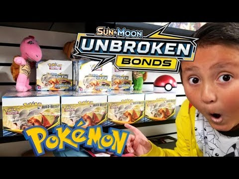 NEW UNBROKEN BONDS POKEMON CARDS SET! PRERELEASE KIT OPENING! NEW BUILD & BATTLE BOX!
