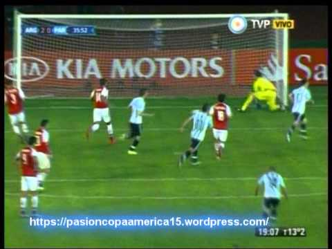 Argentina 2 Paraguay 2 (1ero de Marzo radio) Copa America 2015