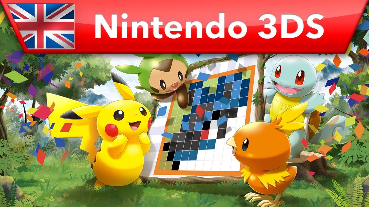 Pok mon picross launch trailer nintendo 3ds youtube for Mural 1 pokemon picross