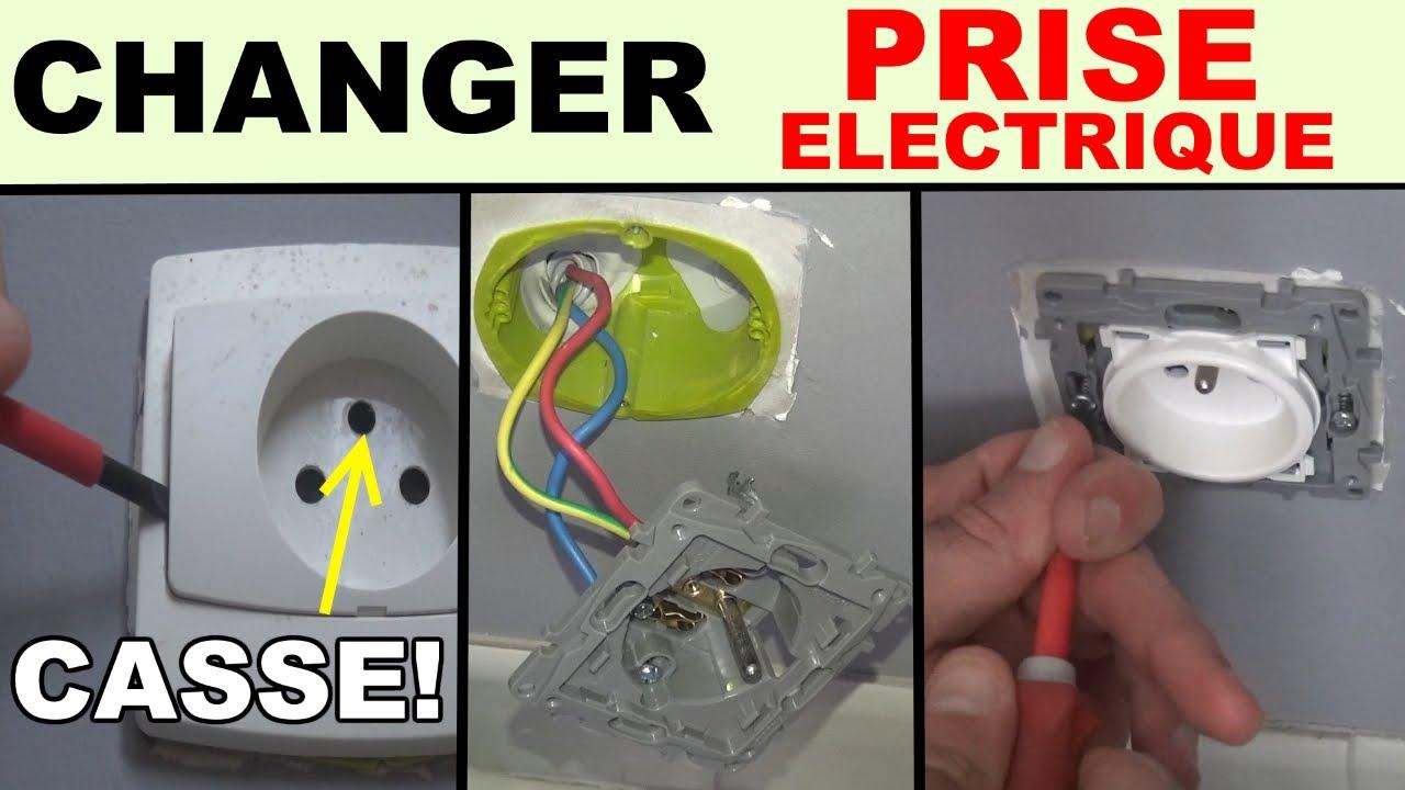Installer Une Prise électrique De Courant Cassée Prise Legrand - Installer une prise electrique exterieure