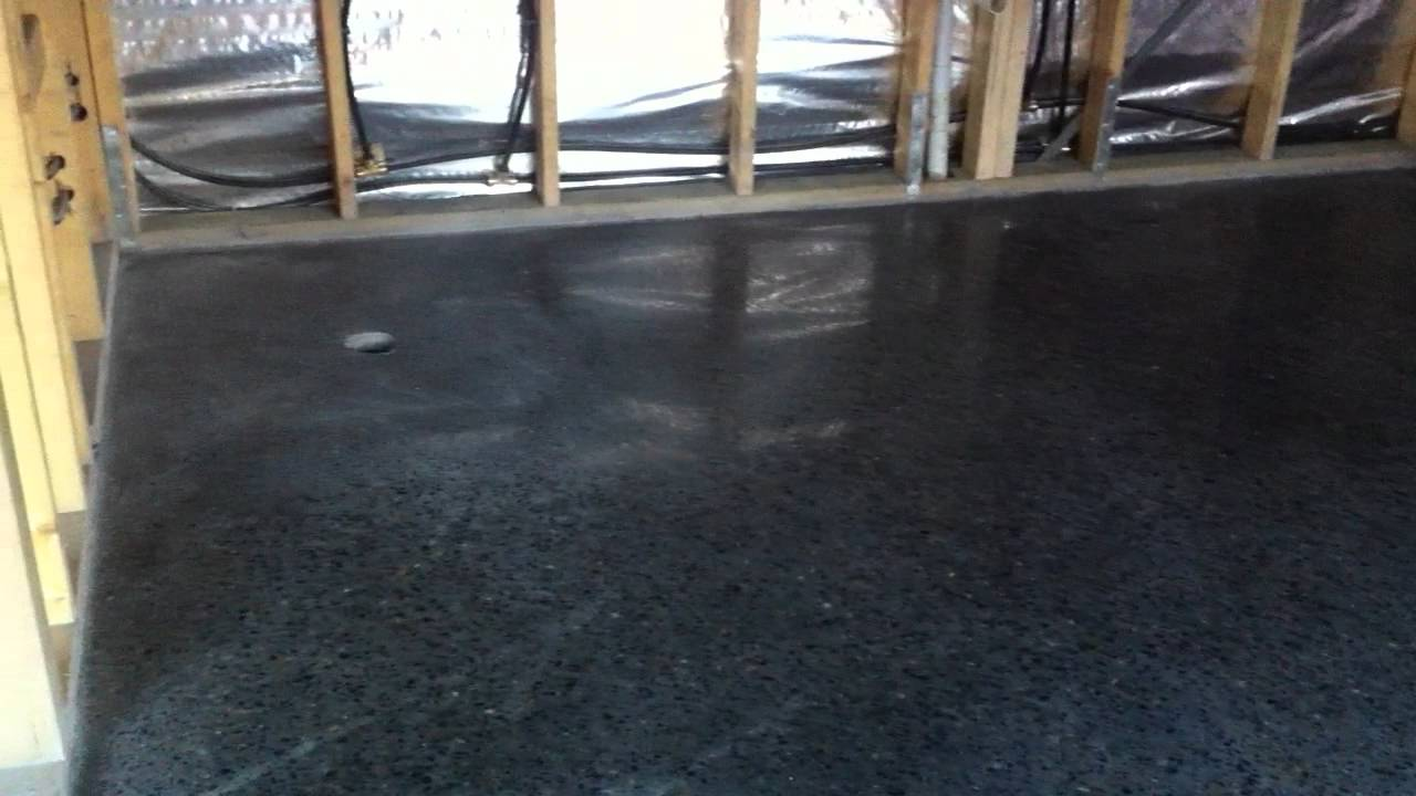 Black Concrete Flooring : Black polished concrete youtube