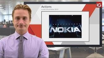 Bourse - Action Nokia, le profit warning pèse - IG 28.10.2019