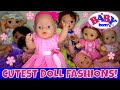👚Baby Born Dolls Dress Up In The Cutest Outfits! 👗Reviewing Adorable Clothes For 15-18