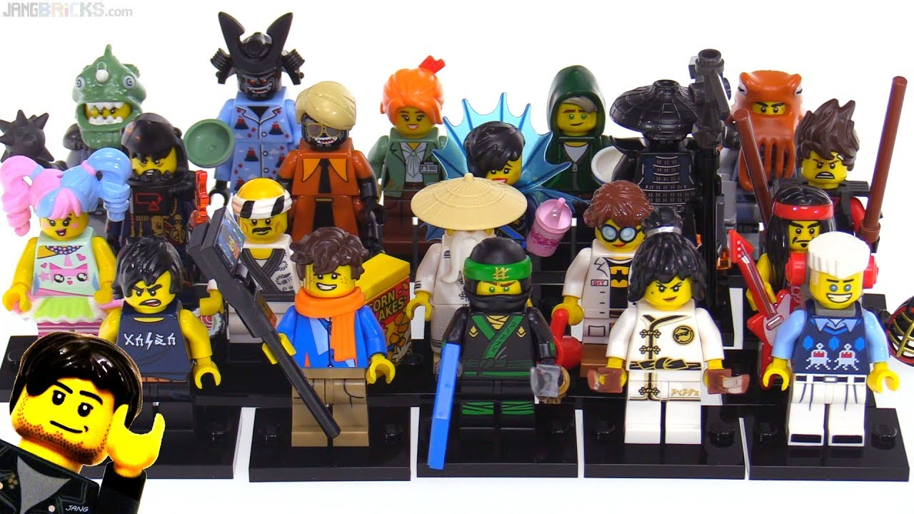 Lego Ninjago Movie Collectible Minifig Series Reviewed All 20 Youtube