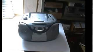 Philips AZ-1003 som machine rádio Cd  toca fitas