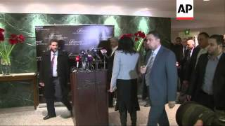 Palestinian rival leaders Abbas and Mashaal meet Arab League chief Elaraby