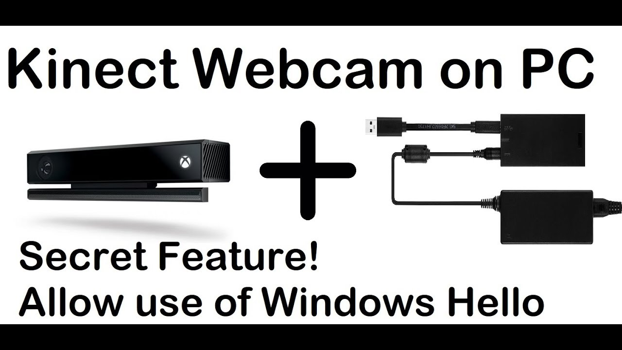Xbox One Kinect - 1080p PC Webcam w/ Windows Hello (Biometric Security)