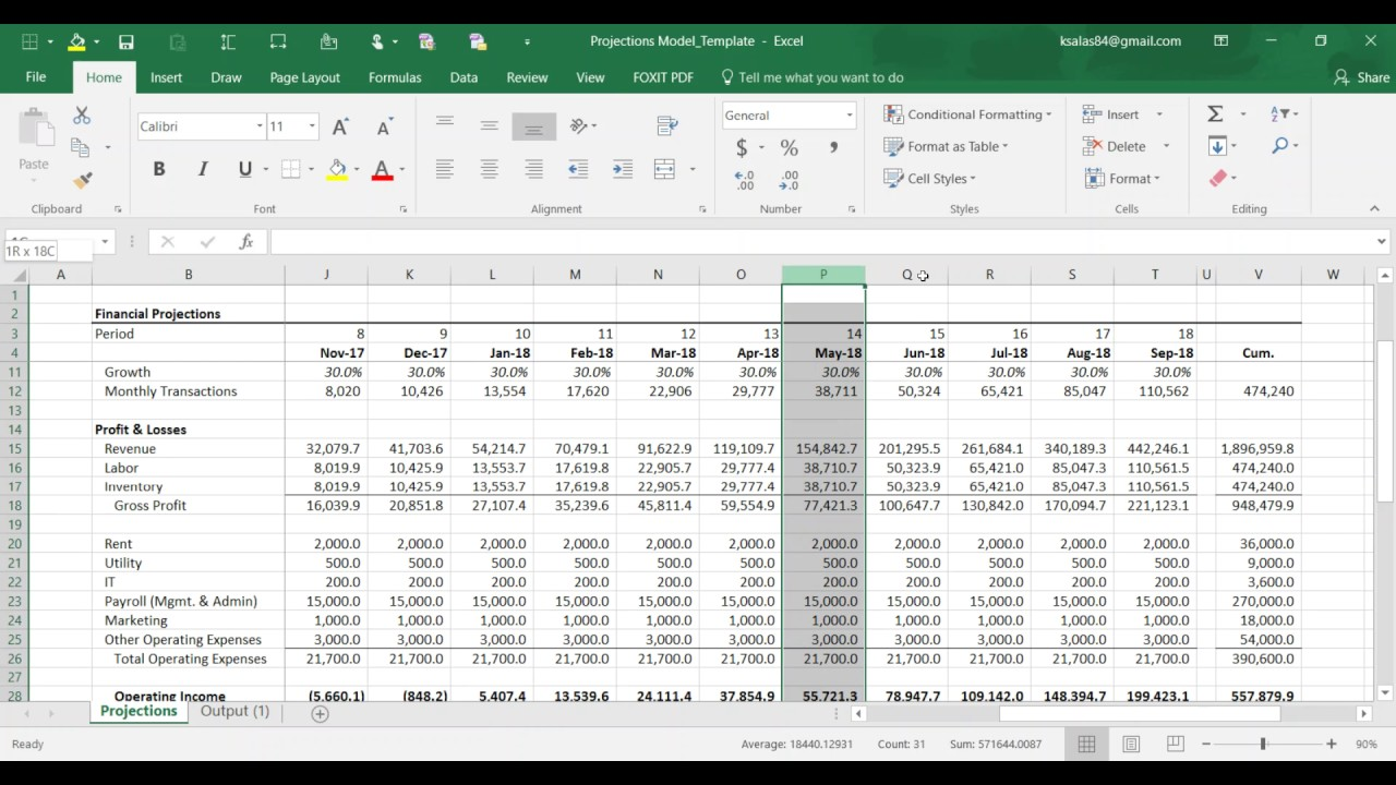 how to use the cash forecast template tutorial youtube