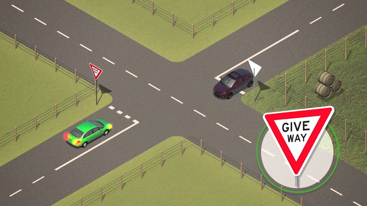 Vic Roads - Road Rules (2) - Giving Way At Intersections ...One Way Street Intersection