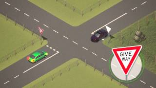 Vic Roads - Road Rules  2  - Giving Way At Intersections