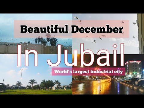 JUBAIL city , Beautiful December Weather of Al Jubail (الجبيل) / world's largest industrial city